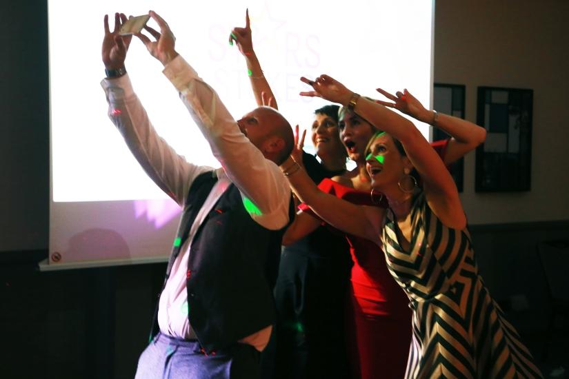 Stokes awards selfie